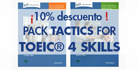 Pack TACTICS FOR TOEIC 10% DTO